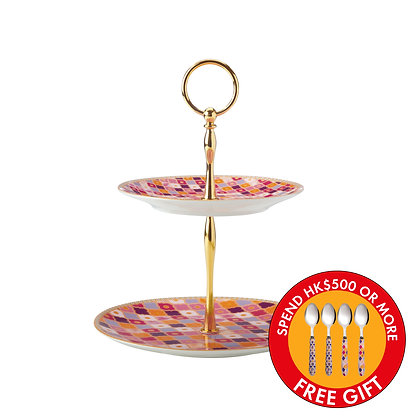 Maxwell & Williams Teas & C's Kasbah 2 Tiered Cake Stand Rose