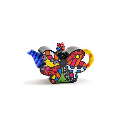 Britto Mini Teapot Figurine - Butterfly