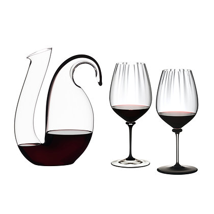 Riedel Decanter Ayam Black + FAM Performance Cabernet/Sauvignon (black) +(clear)