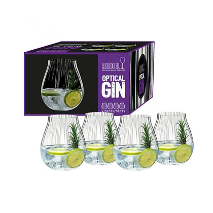 "Riedel Optic ""O"" Gin Set of 4"