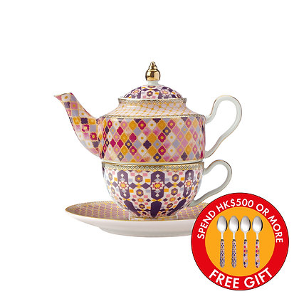 Maxwell & Williams Teas & C's Kasbah Tea For 1 with Infuser 380ML Rose