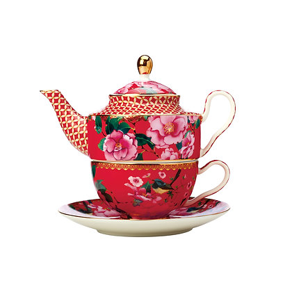 Maxwell & Williams Teas & C's Silk Road Tea for One with Infuser 380ML Red