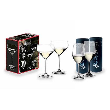Riedel Junmai Sake x2pcs + Vinum Daiginjo x2pcs
