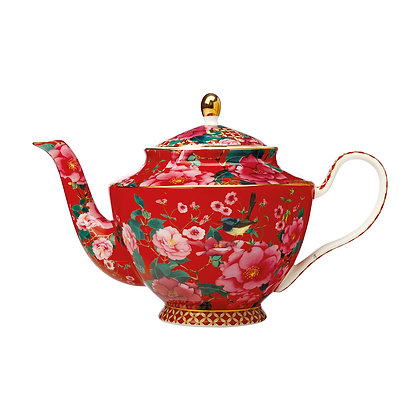 Maxwell & Williams Teas & C's Silk Road Teapot with Infuser 1L Cherry Red