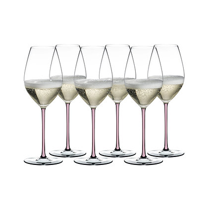 Riedel Fatto A Mano Champagne Pink Gift Set (Set of 6)