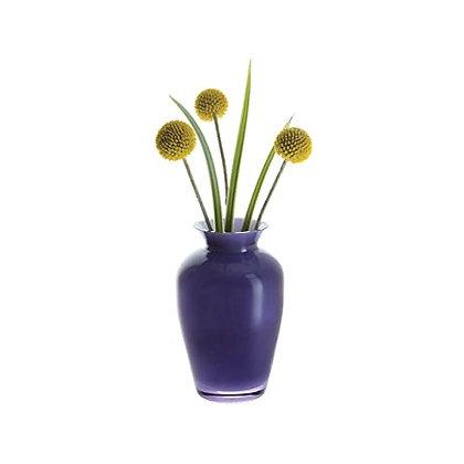 Dartington Amethyst & White Vase 13.5cm