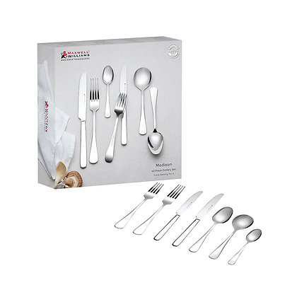 Maxwell & Williams Madison 42pc Cutlery Set Gift Boxed