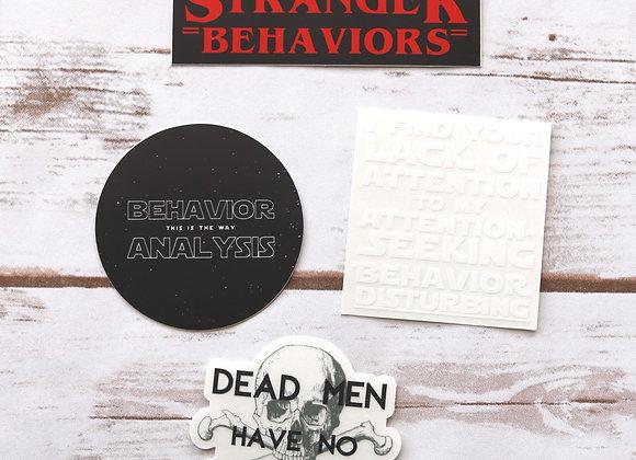 Film & ABA Mashup Stickers - set of 4