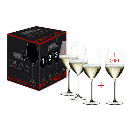 Riedel Veritas Pay 3 Get 4 Champagne Wine Glass