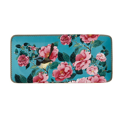 Maxwell & Williams Teas & C's Silk Road Rectangle Platter 33x15.5cm Aqua