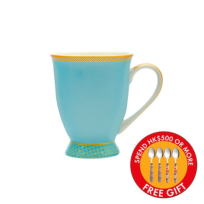 Maxwell & Williams Teas & C's Kasbah Classic Footed Mug 300ML Turquoise