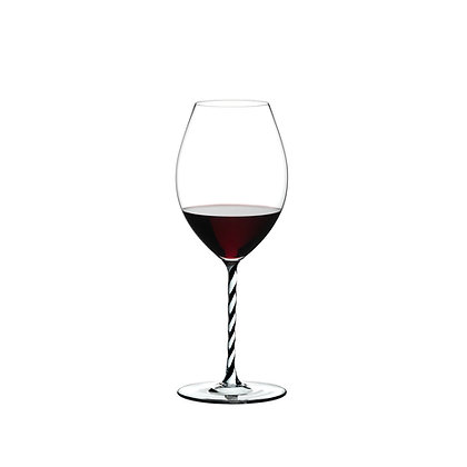 Riedel Fatto A Mano Old World Syrah Black And White Twisted