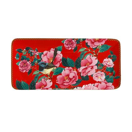 Maxwell & Williams Teas & C's Silk Road Rectangle Platter 33x15.5cm Cherry Red