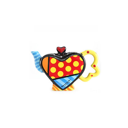 Britto Mini Teapot Figurine - Hearts