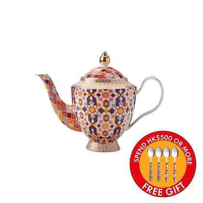 Maxwell & Williams Teas & C's Kasbah Teapot with Infuser 500ML Rose