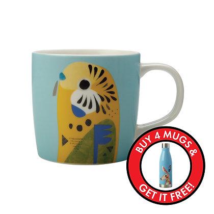 Maxwell & Williams Pete Cromer Mug - Budgerigar