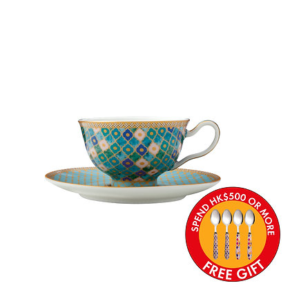 Maxwell & Williams Teas & C's Kasbah Footed Cup & Saucer 200ML Mint