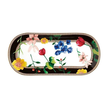 Maxwell & Williams Teas & C's Contessa Oblong Platter 25x11.5cm Black Gift Boxed