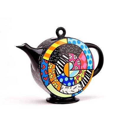 Britto Ceramic Spiral Teapot, 60oz