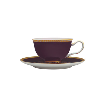 Maxwell & Williams Teas & C's Kasbah Classic Footed Cup & Saucer 200ML Violet