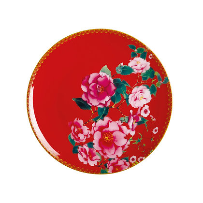 Maxwell & Williams Teas & C's Silk Road Coupe Plate 19.5cm Cherry Red