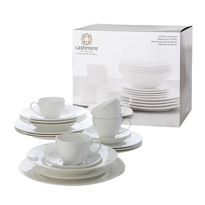 Maxwell & Williams Cashmere Bone China Dinner Set 20pc Gift Boxed