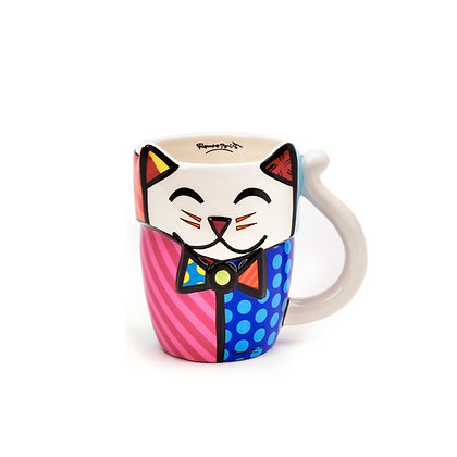 Britto Ceramic Figural Animal Mug - Cat