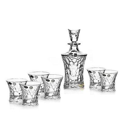 Bohemia Crystal Molecules Whisky Set