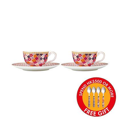 Maxwell & Williams Teas & C's Kasbah Demi Cup & Saucer 85ML Set of 2 Rose