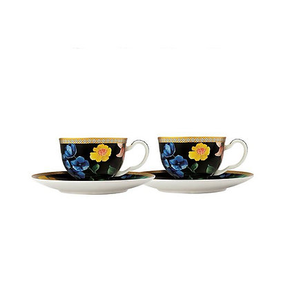 Maxwell & Williams Teas & C's Contessa Demi Cup & Saucer 85ML Set of 2 Black