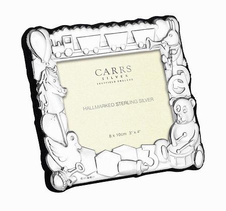 Carrs - Child's Frame Landscape Blue Velvet Back