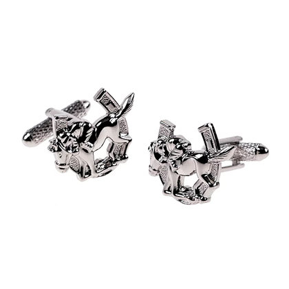 Onyx-Art Cufflinks - Horse Shoe Jockey