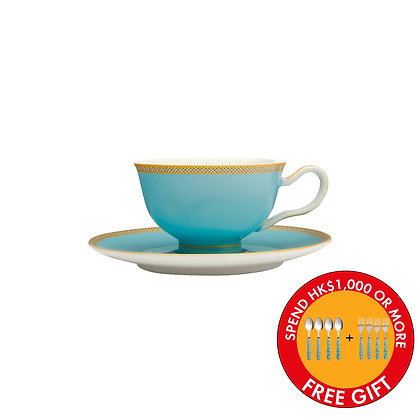 Maxwell & Williams Teas & C's Kasbah Classic Footed Cup & Saucer 200ML Turquoise