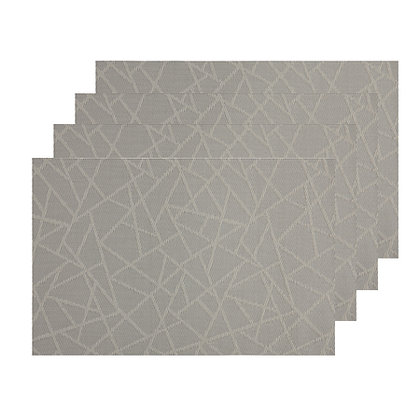 Maxwell & Williams Placemat Mosaic 45x30cm Taupe Set of 4