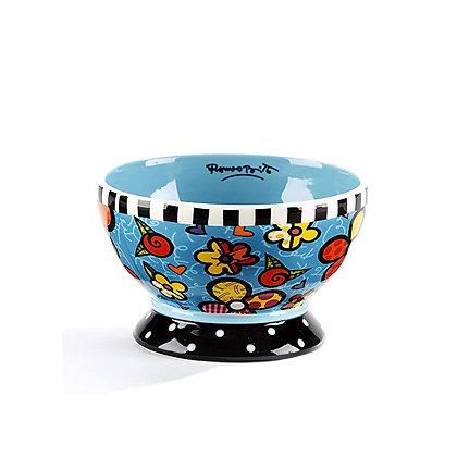 Britto Ice Cream Bowl Flower Blue, 12oz