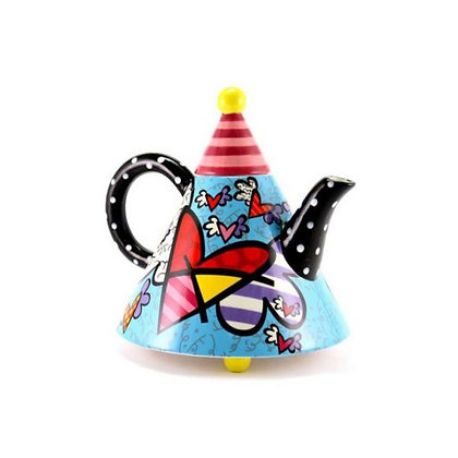 Britto Teapot Large Heart Fly, 52oz