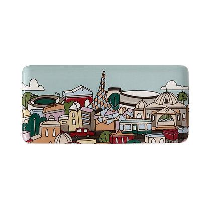 Maxwell & Williams Megan McKean Cities Rectangle Plate 25x12cm Melbourne