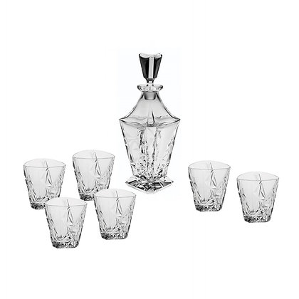 Bohemia Crystal Eskymos Whisky Set (1 Decanter + 6 Tumblers)