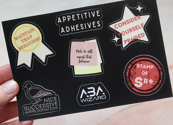 Appetitive Adhesives Sticker Sheet