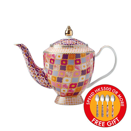 Maxwell & Williams Teas & C's Kasbah Teapot with Infuser 1L Rose