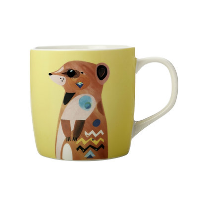 Maxwell & Williams Pete Cromer Wildlife Mug 375ML Meerkat Gift Boxed