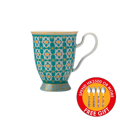 Maxwell & Williams  Teas & C's Kasbah Footed Mug 300ML Mint