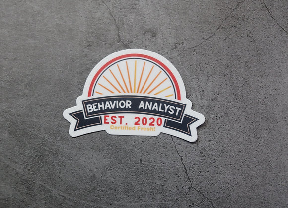 Certified Fresh Behavior Analyst Sticker