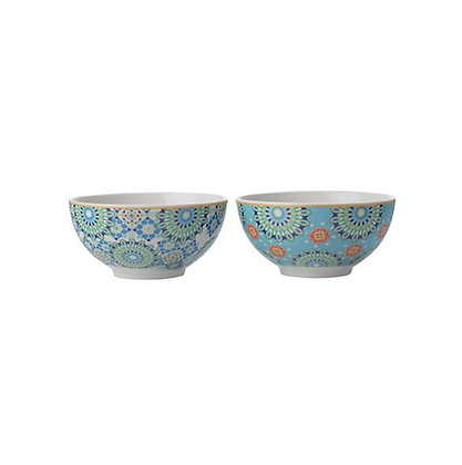 Maxwell & Williams Teas & C's Isfara - Set of 2 Bowl 12.5cm Blue/Red
