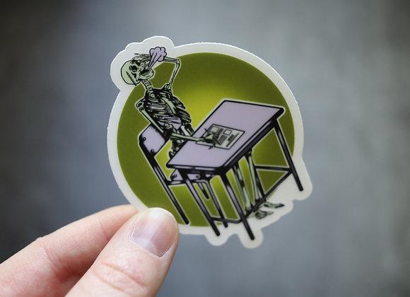 Dead Man's Test Skeleton sticker