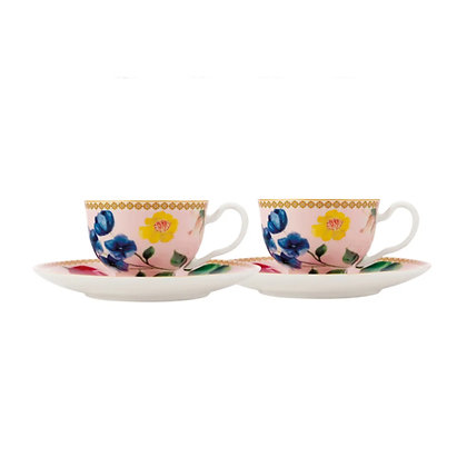 Maxwell & Williams Teas & C's Contessa Demi Cup & Saucer 85ML Set of 2 Rose