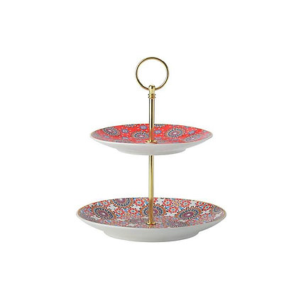 Maxwell & Williams Teas & C's Isfara -  2 Tiered Cake Stand Bukhara Red