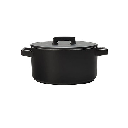 Maxwell & Williams Epicurious Round Casserole 2.6L (Black)