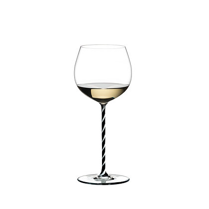 Riedel Fatto A Mano Oaked Chardonnay Black And White Twisted