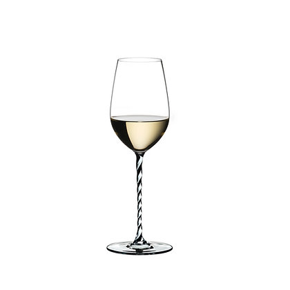 Riedel Fatto A Mano Riesling/Zinfandel Black And White Twisted
